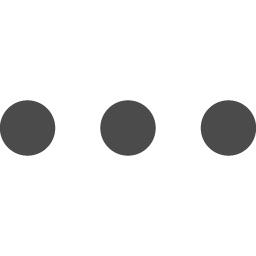 三点リーダーアイコン1 アイコン素材ダウンロードサイト Icooon Mono 商用利用可能なアイコン素材が無料 フリー ダウンロードできるサイト
