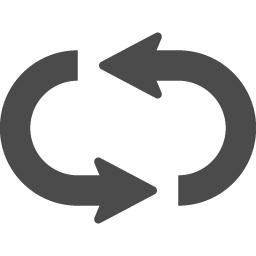 リピートボタンアイコン1 アイコン素材ダウンロードサイト Icooon Mono 商用利用可能なアイコン素材が無料 フリー ダウンロードできるサイト