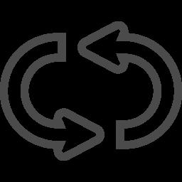 リピートボタンアイコン3 アイコン素材ダウンロードサイト Icooon Mono 商用利用可能なアイコン素材 が無料 フリー ダウンロードできるサイト