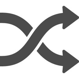 シャッフルの無料アイコン1 アイコン素材ダウンロードサイト Icooon Mono 商用利用可能なアイコン素材が無料 フリー ダウンロードできるサイト