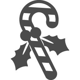 キャンディーケインの無料イラスト2 アイコン素材ダウンロードサイト Icooon Mono 商用利用可能なアイコン素材が無料 フリー ダウンロードできるサイト
