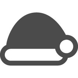 サンタクロースの帽子アイコン1 アイコン素材ダウンロードサイト Icooon Mono 商用利用可能なアイコン 素材が無料 フリー ダウンロードできるサイト