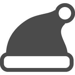 サンタクロースの帽子の無料素材2 アイコン素材ダウンロードサイト Icooon Mono 商用利用可能なアイコン素材が無料 フリー ダウンロードできるサイト