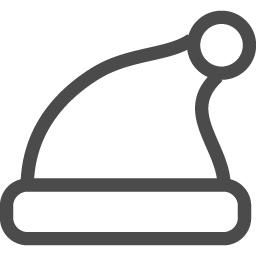 サンタクロースの帽子アイコン3 アイコン素材ダウンロードサイト Icooon Mono 商用利用可能なアイコン素材が無料 フリー ダウンロードできるサイト