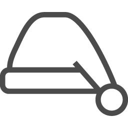 サンタクロースの帽子アイコン5 アイコン素材ダウンロードサイト Icooon Mono 商用利用可能なアイコン 素材が無料 フリー ダウンロードできるサイト
