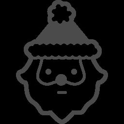 サンタクロースの無料アイコン6 アイコン素材ダウンロードサイト Icooon Mono 商用利用可能なアイコン素材が無料 フリー ダウンロードできるサイト