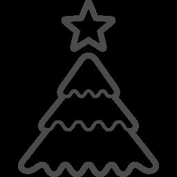 クリスマスツリーのフリーイラスト8 アイコン素材ダウンロードサイト Icooon Mono 商用利用可能なアイコン素材が無料 フリー ダウンロードできるサイト