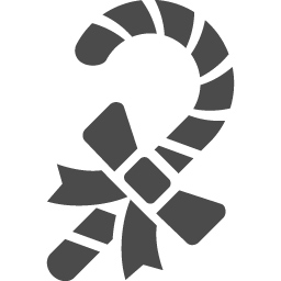 キャンディケインの無料素材6 アイコン素材ダウンロードサイト Icooon Mono 商用利用可能なアイコン素材が無料 フリー ダウンロードできるサイト