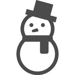 雪だるまのフリーイラスト5 アイコン素材ダウンロードサイト Icooon Mono 商用利用可能なアイコン 素材が無料 フリー ダウンロードできるサイト