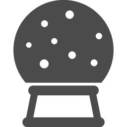 スノードームの無料素材1 アイコン素材ダウンロードサイト Icooon Mono 商用利用可能なアイコン 素材が無料 フリー ダウンロードできるサイト