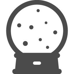 スノードームのフリーアイコン2 アイコン素材ダウンロードサイト Icooon Mono 商用利用可能なアイコン 素材が無料 フリー ダウンロードできるサイト