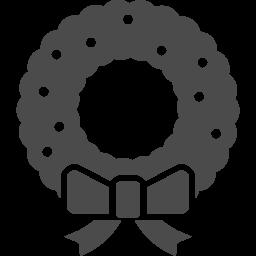 クリスマスリースアイコン1 アイコン素材ダウンロードサイト Icooon Mono 商用利用可能なアイコン素材が無料 フリー ダウンロードできるサイト