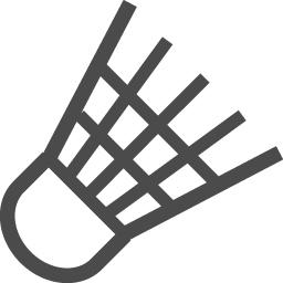 バドミントンの無料素材1 アイコン素材ダウンロードサイト Icooon Mono 商用利用可能なアイコン素材が無料 フリー ダウンロードできるサイト