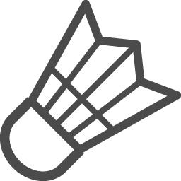 バドミントンアイコン2 アイコン素材ダウンロードサイト Icooon Mono 商用利用可能なアイコン素材が無料 フリー ダウンロードできるサイト