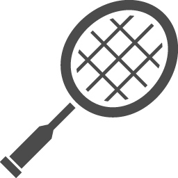 バドミントンの無料アイコン3 アイコン素材ダウンロードサイト Icooon Mono 商用利用可能なアイコン素材が無料 フリー ダウンロードできるサイト