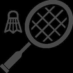 バドミントンアイコン4 アイコン素材ダウンロードサイト Icooon Mono 商用利用可能なアイコン素材が無料 フリー ダウンロードできるサイト