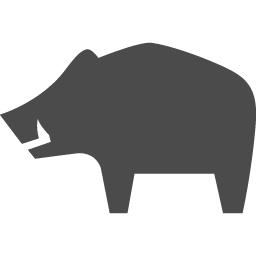 イノシシアイコン3 アイコン素材ダウンロードサイト Icooon Mono 商用利用可能なアイコン素材が無料 フリー ダウンロードできるサイト