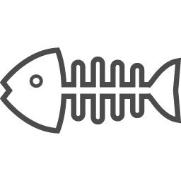 魚の骨のフリーアイコン2 アイコン素材ダウンロードサイト Icooon Mono 商用利用可能なアイコン素材が無料 フリー ダウンロードできるサイト