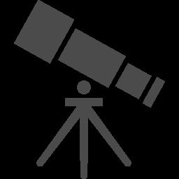 望遠鏡アイコン1 アイコン素材ダウンロードサイト Icooon Mono 商用利用可能なアイコン素材が無料 フリー ダウンロードできるサイト
