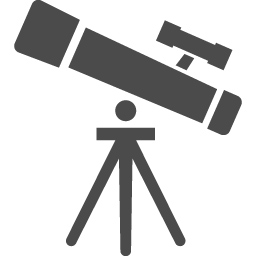 望遠鏡のフリーイラスト3 アイコン素材ダウンロードサイト Icooon Mono 商用利用可能なアイコン素材が無料 フリー ダウンロードできるサイト