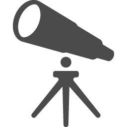 望遠鏡のフリーアイコン4 アイコン素材ダウンロードサイト Icooon Mono 商用利用可能なアイコン 素材が無料 フリー ダウンロードできるサイト