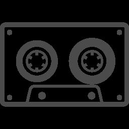 カセットテープのフリーイラスト1 アイコン素材ダウンロードサイト Icooon Mono 商用利用可能なアイコン素材が無料 フリー ダウンロードできるサイト