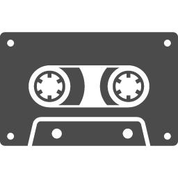 カセットテープのフリーアイコン2 アイコン素材ダウンロードサイト Icooon Mono 商用利用可能なアイコン素材が無料 フリー ダウンロードできるサイト