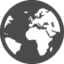 地球アイコン15 アイコン素材ダウンロードサイト Icooon Mono 商用利用可能なアイコン素材が無料 フリー ダウンロードできるサイト