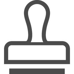 判子アイコン2 アイコン素材ダウンロードサイト Icooon Mono 商用利用可能なアイコン素材が無料 フリー ダウンロードできるサイト