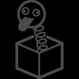 びっくり箱アイコン アイコン素材ダウンロードサイト Icooon Mono 商用利用可能なアイコン素材が無料 フリー ダウンロードできるサイト