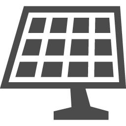 太陽電池アイコン2 アイコン素材ダウンロードサイト Icooon Mono 商用利用可能なアイコン素材が無料 フリー ダウンロードできるサイト