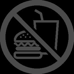 飲食禁止アイコン1 アイコン素材ダウンロードサイト Icooon Mono 商用利用可能なアイコン素材が無料 フリー ダウンロードできるサイト