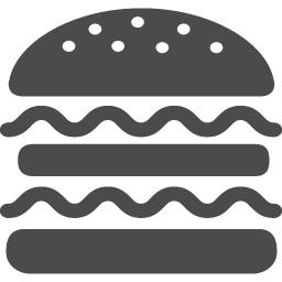 ハンバーガーの無料アイコン3 アイコン素材ダウンロードサイト Icooon Mono 商用利用可能なアイコン素材が無料 フリー ダウンロードできるサイト