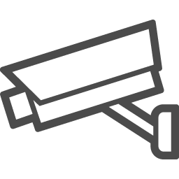 監視カメラの無料イラスト4 アイコン素材ダウンロードサイト Icooon Mono 商用利用可能なアイコン素材 が無料 フリー ダウンロードできるサイト