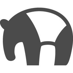 バクの無料イラスト2 アイコン素材ダウンロードサイト Icooon Mono 商用利用可能なアイコン素材が無料 フリー ダウンロードできるサイト