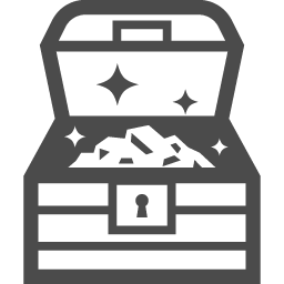 宝箱の無料イラスト4 アイコン素材ダウンロードサイト Icooon Mono 商用利用可能なアイコン素材が無料 フリー ダウンロードできるサイト