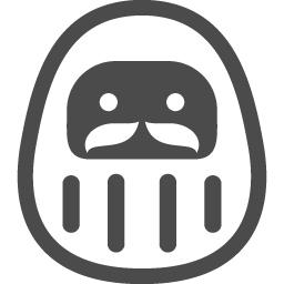 ダルマアイコン4 アイコン素材ダウンロードサイト Icooon Mono 商用利用可能なアイコン素材が無料 フリー ダウンロードできるサイト