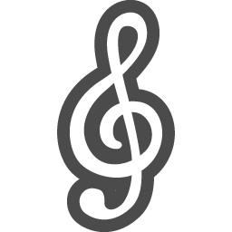 ト音記号の無料アイコン3 アイコン素材ダウンロードサイト Icooon Mono 商用利用可能なアイコン素材が無料 フリー ダウンロードできるサイト