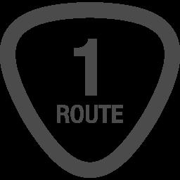 国道アイコン1 アイコン素材ダウンロードサイト Icooon Mono 商用利用可能なアイコン素材が無料 フリー ダウンロードできるサイト