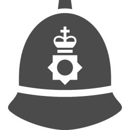 イギリス警察の帽子 アイコン素材ダウンロードサイト Icooon Mono 商用利用可能なアイコン素材が無料 フリー ダウンロードできるサイト