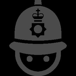 イギリスの警察官1 アイコン素材ダウンロードサイト Icooon Mono 商用利用可能なアイコン素材が無料 フリー ダウンロードできるサイト