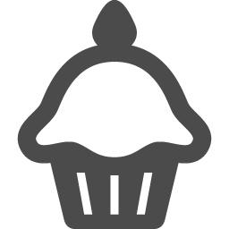 カップケーキアイコン1 アイコン素材ダウンロードサイト Icooon Mono 商用利用可能なアイコン素材が無料 フリー ダウンロードできるサイト