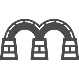 錦帯橋アイコン アイコン素材ダウンロードサイト Icooon Mono 商用利用可能なアイコン素材が無料 フリー ダウンロードできるサイト
