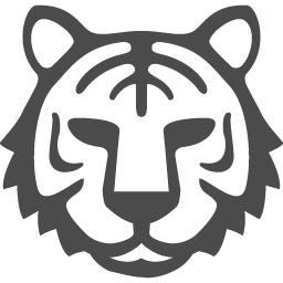 虎のフリーイラスト2 アイコン素材ダウンロードサイト Icooon Mono 商用利用可能なアイコン素材が無料 フリー ダウンロードできるサイト