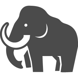 マンモスアイコン1 アイコン素材ダウンロードサイト Icooon Mono 商用利用可能なアイコン素材が無料 フリー ダウンロードできるサイト