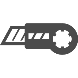 カッターナイフアイコン1 アイコン素材ダウンロードサイト Icooon Mono 商用利用可能なアイコン素材が無料 フリー ダウンロードできるサイト