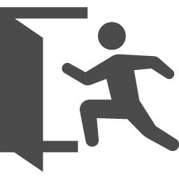 Exitアイコン2 アイコン素材ダウンロードサイト Icooon Mono 商用利用可能なアイコン素材が無料 フリー ダウンロードできるサイト