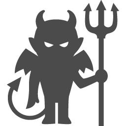 悪魔のフリーイラスト3 アイコン素材ダウンロードサイト Icooon Mono 商用利用可能なアイコン素材が無料 フリー ダウンロードできるサイト