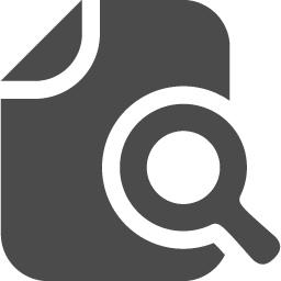 書類検索アイコン2 アイコン素材ダウンロードサイト Icooon Mono 商用利用可能なアイコン素材が無料 フリー ダウンロードできるサイト