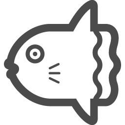 マンボウの無料イラスト2 アイコン素材ダウンロードサイト Icooon Mono 商用利用可能なアイコン素材が無料 フリー ダウンロードできるサイト